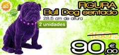Figura bulldog sentado 2 unidades