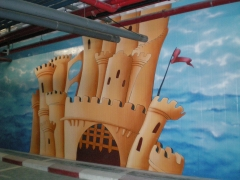 Detalle de mural en fachada camelot park marbella �10