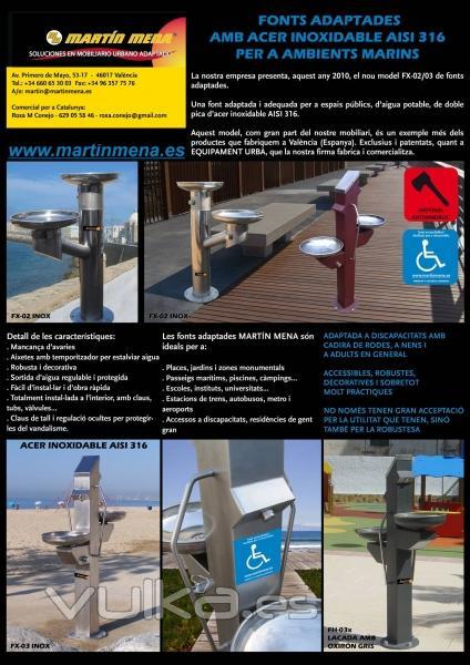 Foto gama de fuentes para beber agua adaptadas para todos for Para todos los publicos