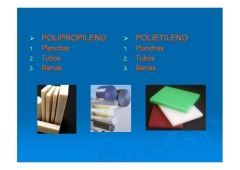 Materiales pl�sticos, materiales acr�licos: polipropileno (pp), polietileno (pe).