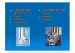 Policarbonato celular para carpinter�a met�lica, carpinter�a madera y carpinter�a de pvc.
