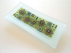 Bandeja decorada con pasta de vidrio