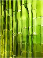 Panel de vidrio de botella fundido
