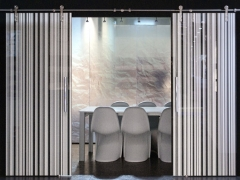 Puertas correderas de vidrio serigrafiado y laminado