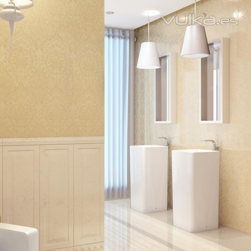 Foto serie helios 25x75 paredes de ba o revestimiento - Pintura para azulejos de bano ...