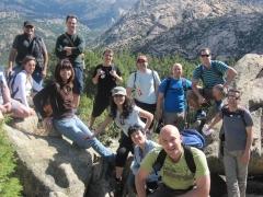 Foto de grupo en una de las excursiones que hicimos a la pedriza