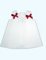Colecci�n verano vestido para ni�a. vestido para beb�. vestido bordado. vestido con lazos rojos.