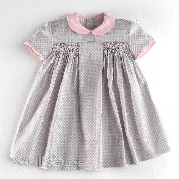 Vestidos de niña punto smock - Imagui