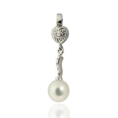 Colgante plata con perla cultivada, colecci�n boda ie
