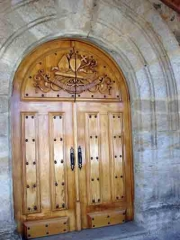 Puerta de la iglesia de santibañez de tera - zamora