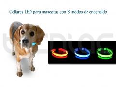 Collar led para mascotas con banda luminosa y 3 modos de encendido - http://bit.ly/mwl2do