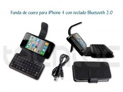 Funda de cuero para iphone 4 con teclado bluetooth 2.0 - http://bit.ly/gpeasa