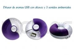 Difusor de aromas usb con altavoz y 3 sonidos ambientales naturales - http://bit.ly/itpaic