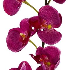 Rama artificial flores orquideas peque�as berengena con hojas en lallimona.com (detalle 2)