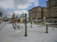 Circuito biosaludable en harbour views  park gibraltar