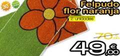 Felpudo de flores con un 30% de descuento