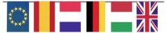 Bandera de plástico internacional de 20 x 30 cm y 50 metros