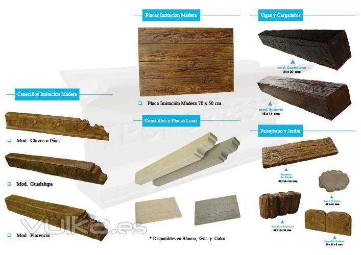 Tecnologia de prefabricados salmantina s l - Hormigon imitacion madera ...
