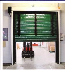 Puerta plegable isotermica