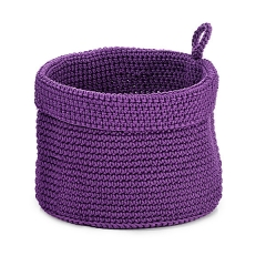 Panera de ba�o lila redonda peque�a en lallimona.com