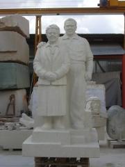 Jes�s hern�ndez y hortensia p�rez. talla en piedra. icod de los vinos (tenerife)