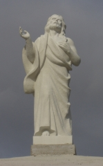 Cristo resucitado. talla en piedra. cabezo de torres (murcia)