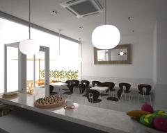 Proyecto 3d para una peque�o caf�