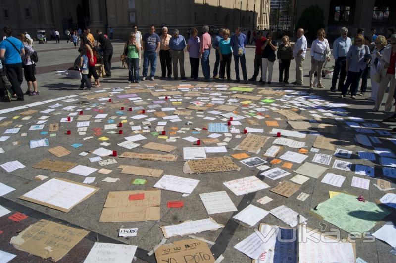 plaza del pilar democracia real ya