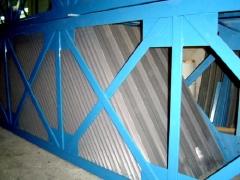 Decantacion placas con estructura de soportacion