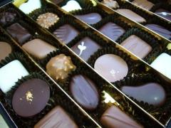 Caja de bombones, chocolate valrhona