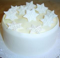 Tarta flocos de nieve