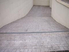 Hormigon estampado en entrada de garajes