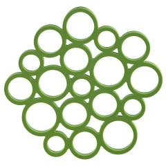 Salvamanteles silicona circulos verde en lallimona.com (detalle 1)