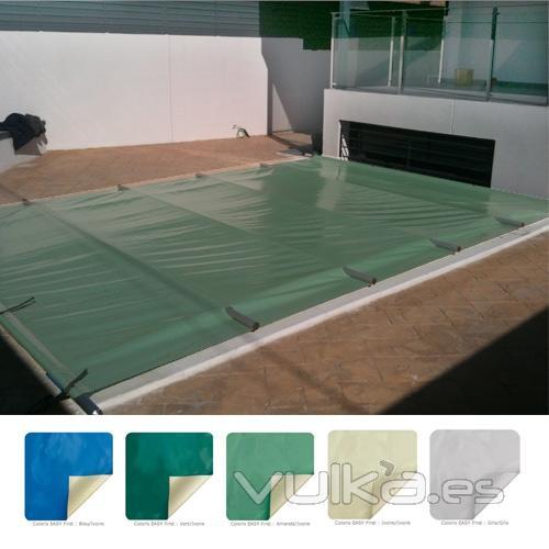 Foto cubierta de barras para piscina sustituye una manta for Manta solar piscina