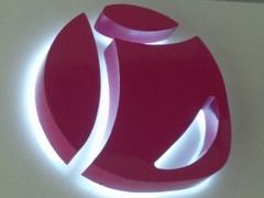 Logotipo corporeo de aluminio lacado