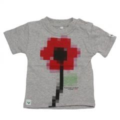 Camiseta para beb� flor de la marca visual poetry