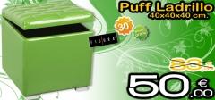 Puff ba�l ladrillo en color verde