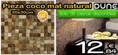 Pieza coco mat natural 30x30 de dune