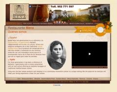 Diseño y creación web restaurante mena  www.restaurante-mena.es