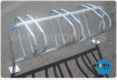 Aparcabicis doble en acero galvanizado. (www.euronix.es)