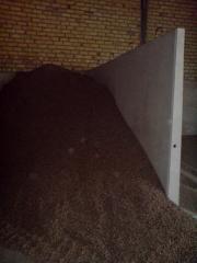 Muros separadores de granos