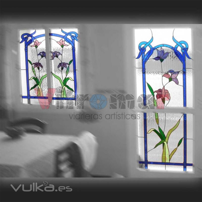 Foto vidrieras emplomadas para puerta y ventanas de cocina - Cristales con dibujos para cocinas ...