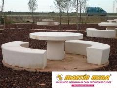 Mesas de Pic-Nic antivandálicas de hormigon arquitectónico