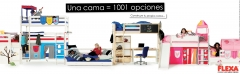 Flexa beds, bunks and bedrooms for children: +34 91 633 80 95