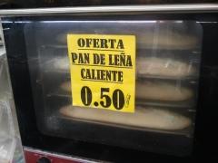 Barra de pan de le�a caliente 0.50 cent unidad