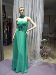 Largo gasa de seda verde