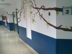 Placa protecci�n pared acrovyn