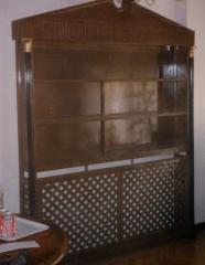Libreria cubreradiador.