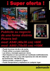 Distribuido Pizarras led, Relojes led, iluminacion led.