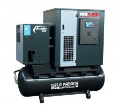 Compresor de tornillo con deposito y secador